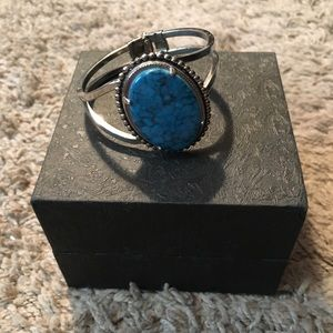 Jewelry - Turquoise and sterling silver bracelet